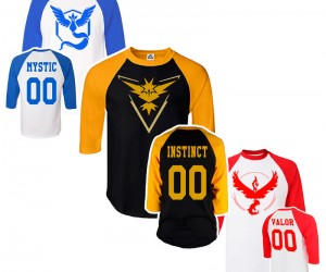 Pokemon Go Inspired Team Shirts – Gotta wear 'em all!