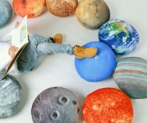 Sit back and relax on these planetary pillows!