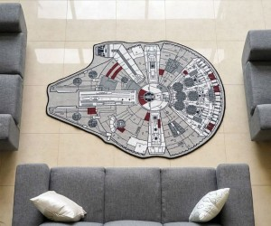 Millennium Falcon Rug – Decorate your man cave with the fastest hunk of junk around!