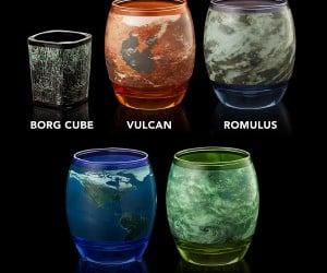 Star Trek Planetary Glasses – Explore strange new worlds