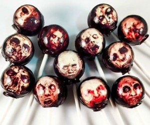 Zombie Head Lollipops!