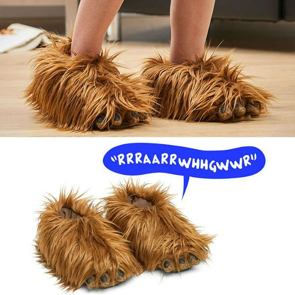 best-star-wars-products-chewbacca-slippers