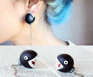 Mario Bros Chain Chomp Earrings!