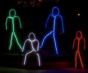 Light up stick figure Halloween costumes!