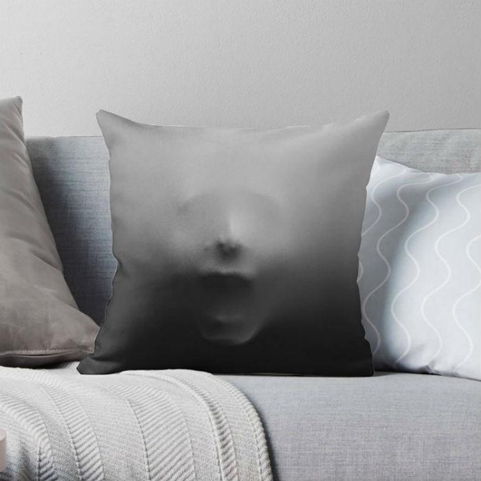 screaming face pillow