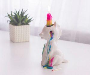 Crying Unicorn Candle