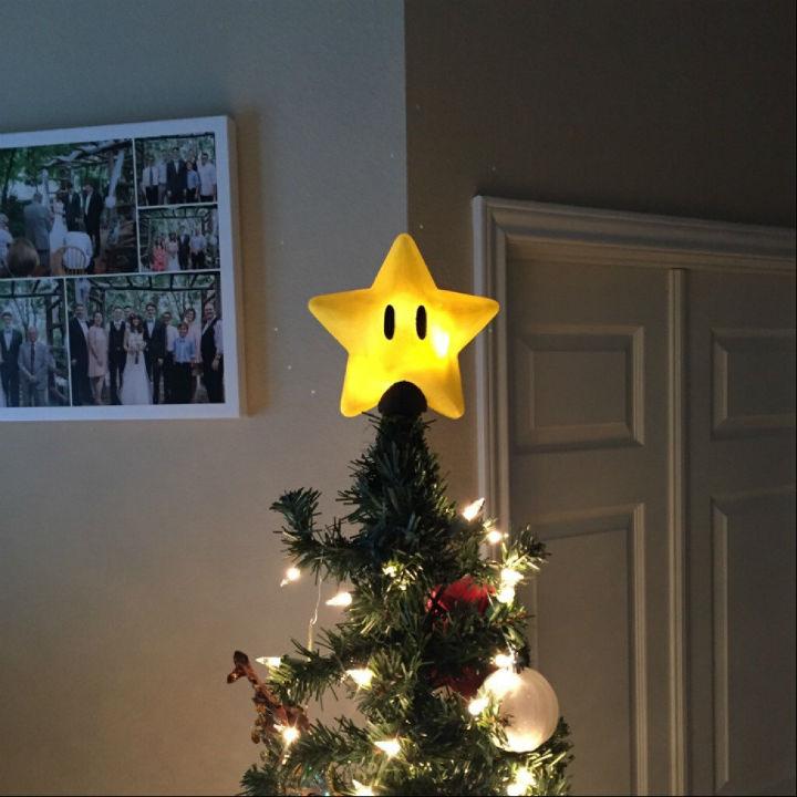 super mario star tree topper
