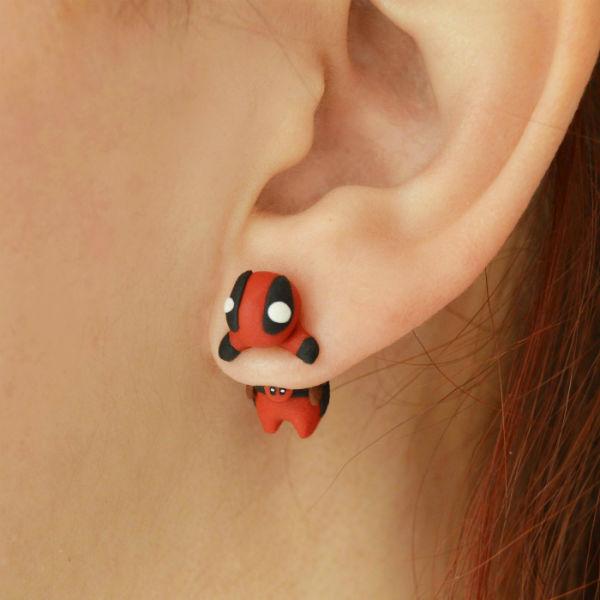 deadpool earrings