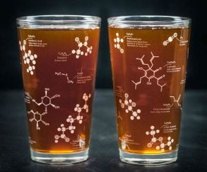 Beer Chemistry Molecule Pint Glass Set – Learn the chemical makeup of beer while… drinking a beer!