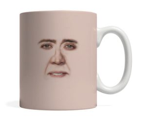 Creepy Nic Cage Face Mug – Coffee just got extra creepy