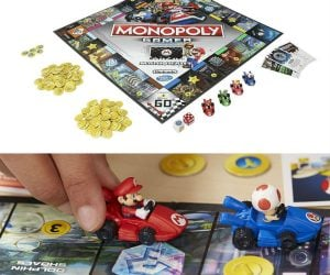 Mario Kart Monopoly – Zoom around the monopoly board picking up chests and throwing bananas at your opponents!