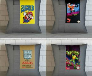 Nintendo NES Cartridge Pillows – Unique inspirational throw pillows perfect for people who love Old School Games