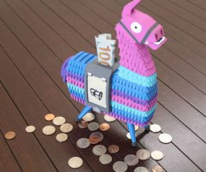 Fortnite Llama Coin Bank – One of the best things to find in Fortnite is now available as a coin bank for your desk or office!