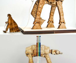 Star Wars AT-AT On A Leash Bookends – This AT-AT was captured during the Rebellion and re-purposed to organize your rebel manuals. All weapons, on board systems and all other possible