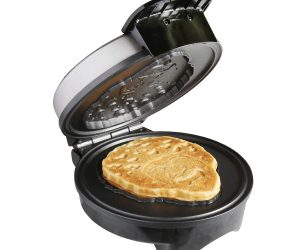 BOB ROSS WAFFLE MAKER – Make happy little waffles at home. Pour in the batter, lower the lid, and before you know it, there's Bob Ross ready for butter and