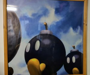 Mario 64 Bomb Omb Painting – Unfortunately you can't jump through it, but it is pretty cool to look at. This item is hand painted on a 12×12 canvas with