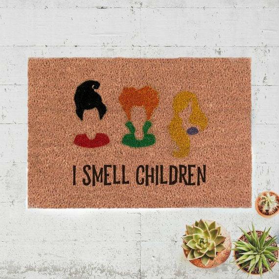 i smell children hocus pocus doormat