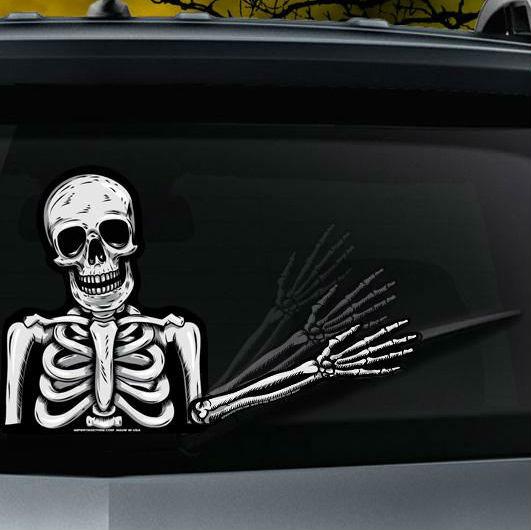 skeleton wiper tag decal