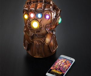 Marvel Thanos Gauntlet Mood Lamp – Unfortunately it won't give you control over the entire universe, but it does come with all 5 infinity stones already preinstalled.