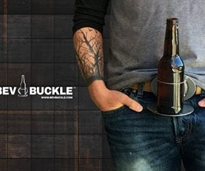 The BevBuckle Beer Holding Belt Buckle – is the world's first and only retractable belt buckle that holds a canned or bottled drink. BevBuckle gives a whole new meaning to hold my