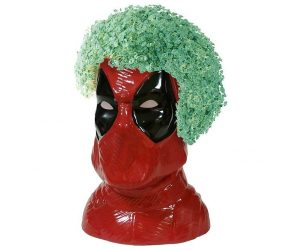 Deadpool Chia Pet is the perfect and affordable gift for any budget. Both kids and adults will love to watch chia planters sprout and develop into a hilarious creation.