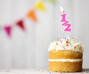 Celebrate Your Birthday Twice a Year With the 1/2 Candle! You only live once so you should celebrate twice & great excuse to buy a cake!