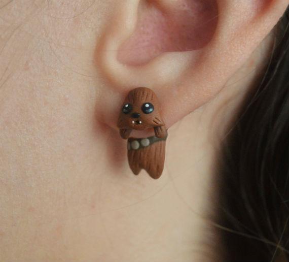chewbacca earrings