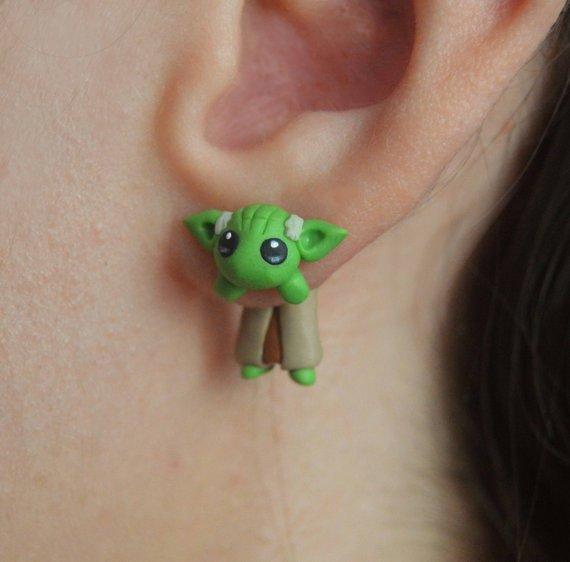 earrings inspired in Star Wars