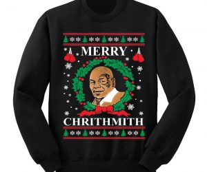 Mike Tyson Ugly Christmas Sweater – Merry Chrithmith from Mike Tyson himthelf. This sweater is sure to be a hit!