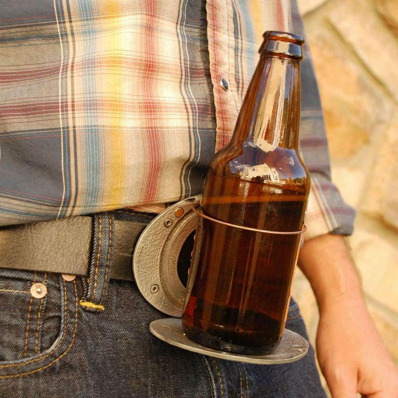 bev buckle beer holding belt buckle