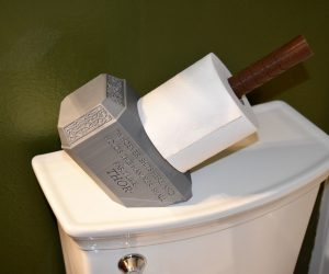 No Bathroom is complete without the new Thor Toilet Paper Holder! This Mjoinir Paper holder will be the talk of the neighborhood.