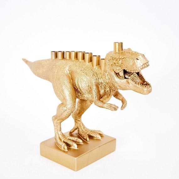 dinosaur menorah