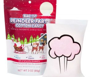 Reindeer Farts Cotton Candy –Celebrate Christmas with one of the sweetest treats of all, Reindeer Farts Peppermint Cotton Candy! Just grab one or two or even handfuls and savor the