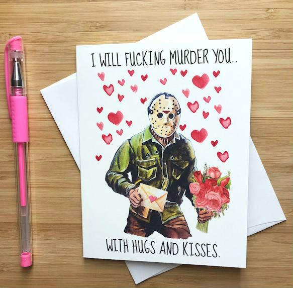 jason friday the thirteenth valentines day card