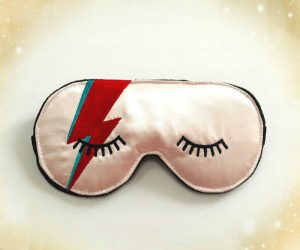 Float off to sleep in a most peculiar way with help from this David Bowie Ziggy Stardust Sleep Mask