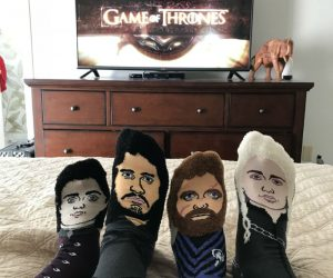 Game of Thrones Face Socks – The only socks of their kind, the exclusive limited edition Game Of Thrones Fan Socks Series puts four of your favorite Thrones characters on high