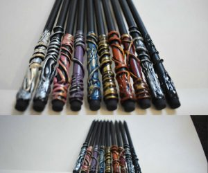 Harry Potter Inspired pencil wands! The perfect accessory for the new school year! Harry Potter fans young and old will want one or more of these amazing pencil wands in