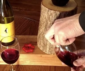 The Liquor Log Dispenser –Get the party started with the Log Liquor Dispenser. This unique eco-friendly dispenser is handcrafted by a father and son team. They come with a black