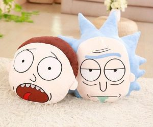 Rick and Morty Throw Pillows -Wubalubadubdub grab yourself a Morty head, a Rick head, or both! Cushion is approx. 17.7 x 11.8in