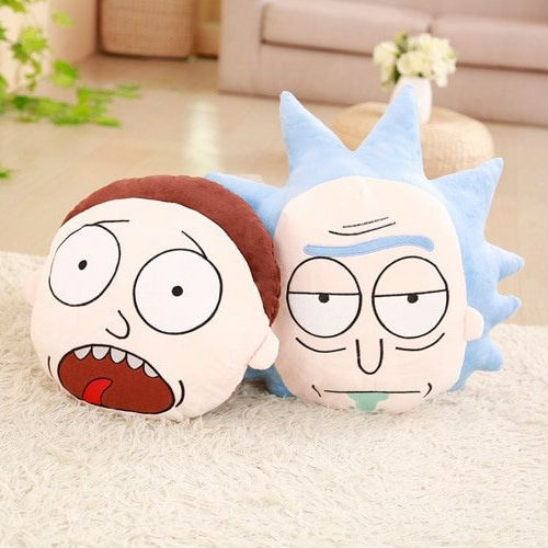 rick and morty throw pillow