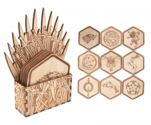 In the Game of Thrones, you win… Or you die. Avoid the unnecessary table-death stains with the Game of Thrones Inspired Coasters Set.