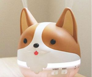 Corgi Humidifier Diffuser – This little diffuser (also a humidifier) will work to humidify the air for a good six to eight hours. They're also equipped with timed auto shut-off modes.