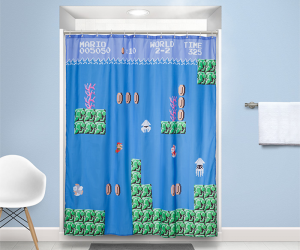 Super Mario Shower Curtain – Since they're brothers, do you think Mario and Luigi had to share a bathroom growing up? That's never easy. If there's somebody in your family