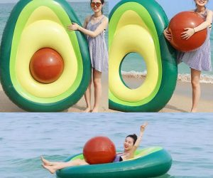 Avocado Pool Float with removable pit! – What's better than chilling on your very own floating avocado? The best part is the removable pit basically doubles as a beach ball.