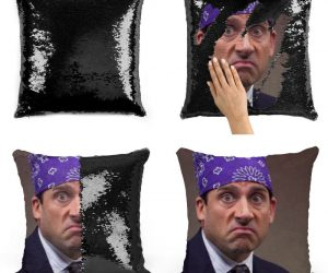 The Office Prison Mike Sequin Pillow – The worst thing about prison was the… was the dementors. This hilarious pillow measures 16″x16″ and comes with a pillow insert already inside