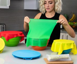 Food Wrap Reusable Cling Wrap –A Reusable replacement for plastic Cling Wrap and Tin Foil. No more single use kitchen plastics!