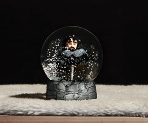 Game of Thrones Jon Snow Snow Globe – For people who snow nothing. Basically it's Jon Snow in a snow globe