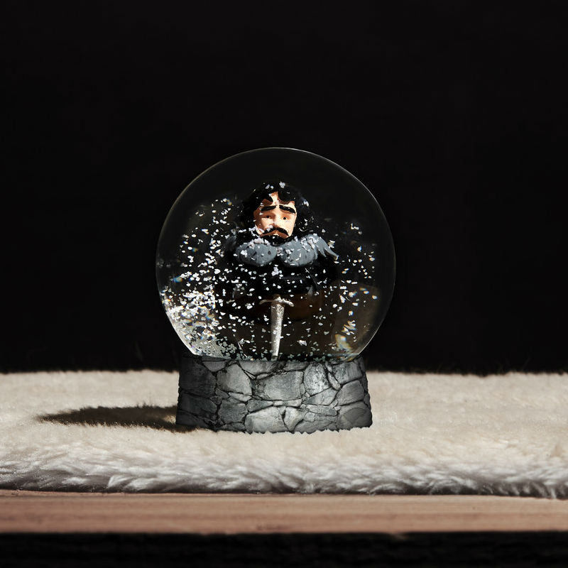 jon snow snow globe