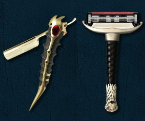 Game of Thrones Valyrian Steel Razor Blades – All men must shave! The only razors with blades that stay sharp forever. The best a Westerosi can get.