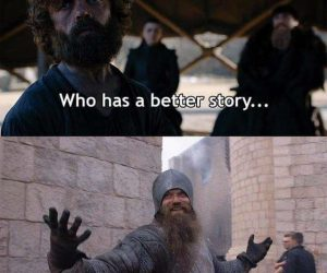 Who has a better story than Andy the Extra? Game of Thrones meme